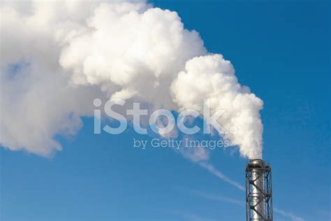 Smoke Comes Out Of Fireplace by Polluting Smoke Coming Out Of Chimney Stock Photos