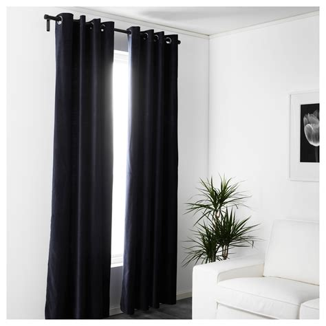 dark blue curtains sanela curtains 1 pair dark blue 140x250 cm ikea