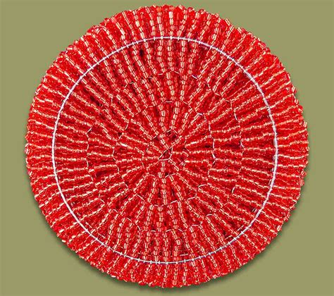 beaded coasters beaded coaster set x 6
