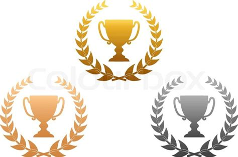 design a certificate online free golden silver and bronze awards with laurel wreath for