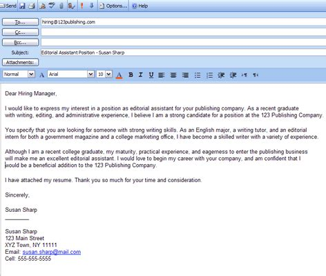 cover letter di email cover letter 201207