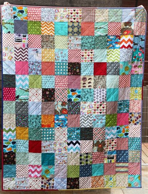 Square Quilt Patterns by Scrappy Charm Square Quilt Sew Delicious