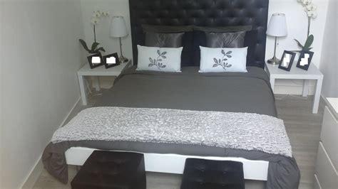 id馥 d馗o chambre noir et blanc chambre noir blanc argent design de maison