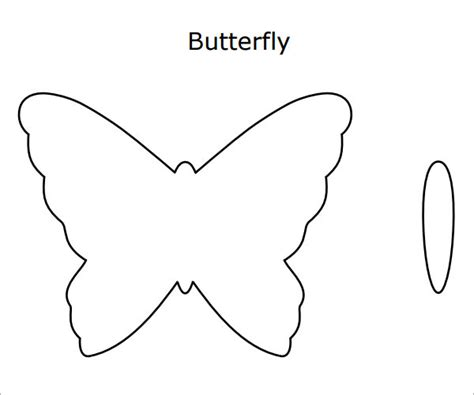 template of butterfly to print 10 butterfly sles pdf sle templates