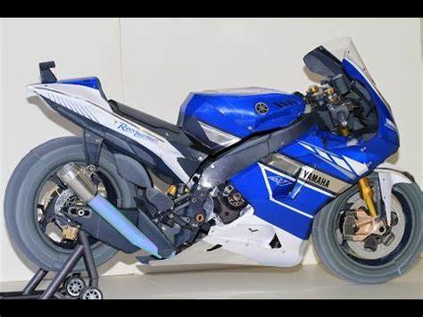 Yamaha Papercraft Motorcycle - motor paper craft best realistic size papercraft