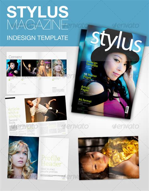 stylus indesign magazine print ad templates