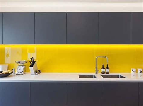 yellow kitchen splashback terrace house renovation in vibrant east