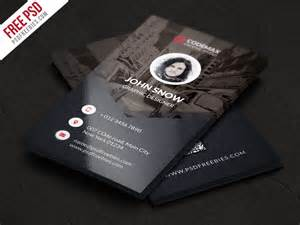 modern business card template modern business card free psd template psdfreebies