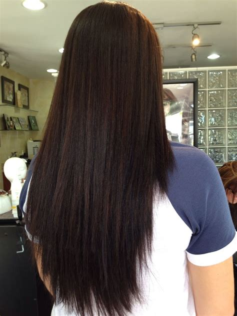 change dark mahogany brown hair to natural chocolate brown with highlights 25 best ideas about root color on pinterest natural