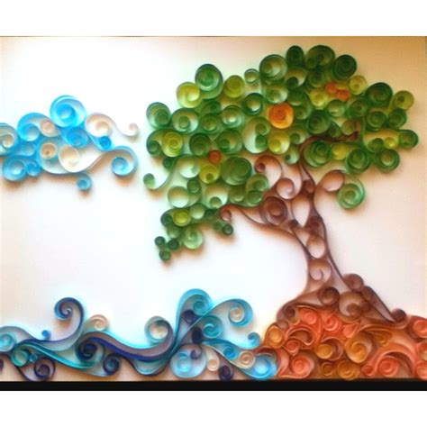 Paper Craft Design - quilling tree and quilling