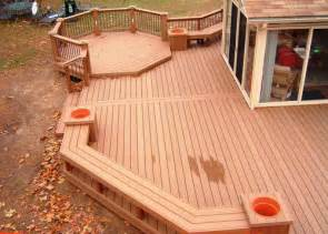 to nature with wood and deck home decoration