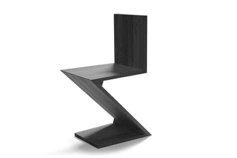 Rietveld Sedia by Gerrit Rietveld Zig Zag Chair Steelclassic