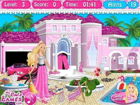 barbie dream house game barbie dreamhouse cleanup game