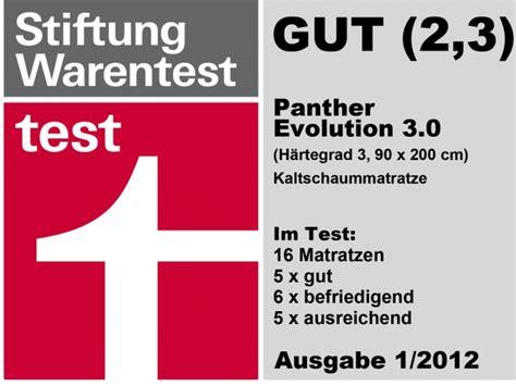 panther matratzen test die matratze evolution 3 0 panther bei bett1 de im