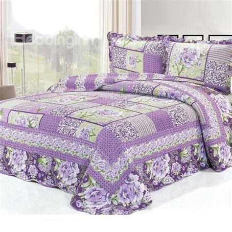Purple Bed In A Bag Sets Purple Flowers Pattern Bed In A Bag Set Beddinginn