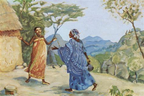 painting mafa the visitation and elizabeth meet luke 1 39 45