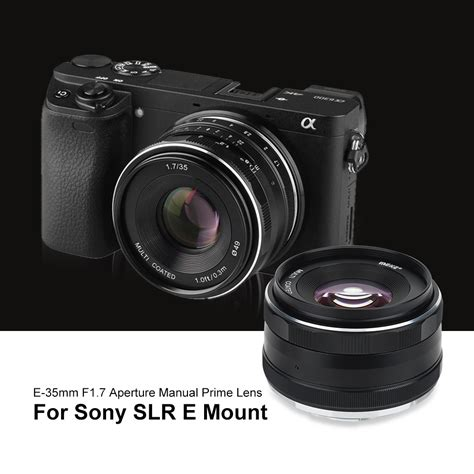 Meike For Sony 35mm F 1 7 Aps C meike 35mm f1 7 fixed manual lens for mirrorless aps c