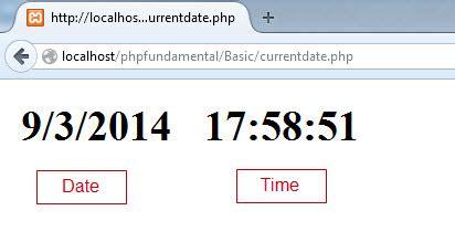 membuat website real time membuat tanggal dan waktu sekarang dengan php