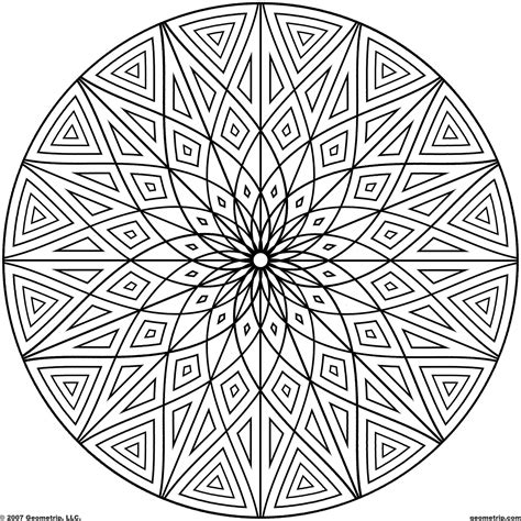 coloring pages designs mandala printable geometric patterns geometrip com free