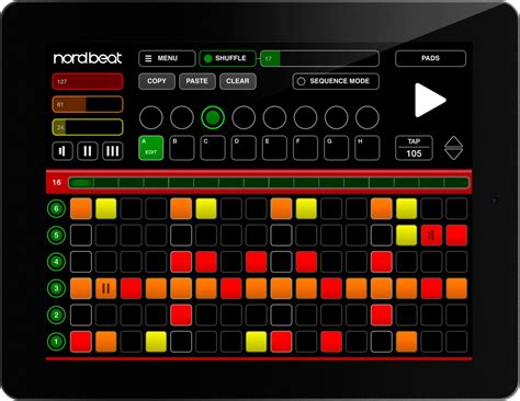 drum pattern sequencer app nord beat 3 nord keyboards