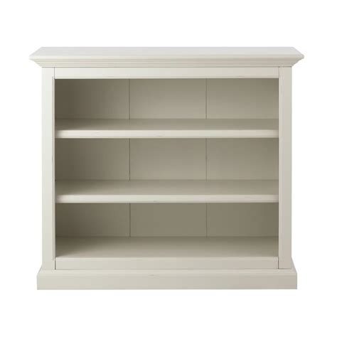martha stewart living ingrid rubbed ivory open bookcase