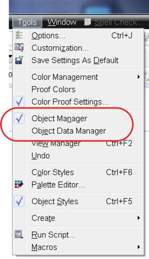 Corel Draw X4 Object Manager | object manager docker coreldraw x6 coreldraw graphics