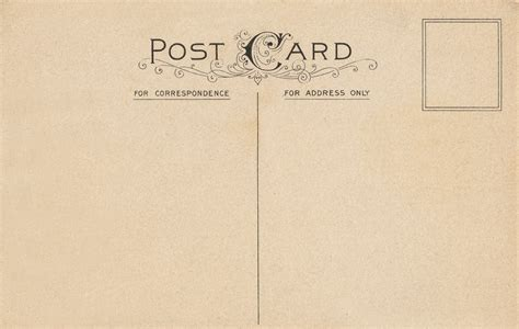 card template vintage 10 best images of vintage postcard templates free free