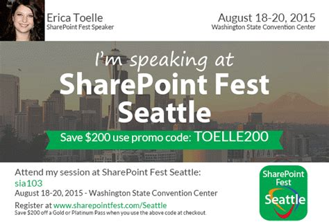 i m speaking sharepoint seattle august 18 20th