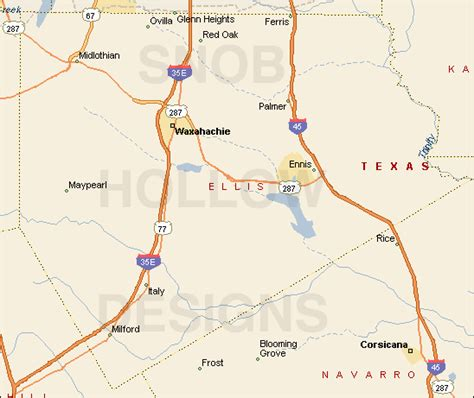ellis county texas map ellis county texas color map