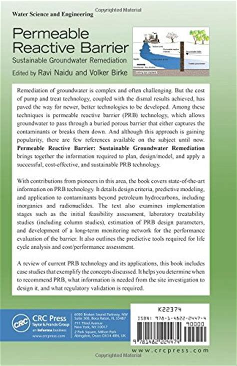 Permeable Reactive Barrier Sustainable Groundwater