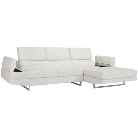 microfiber sofa with chaise city furniture loki white microfiber right chaise sectional
