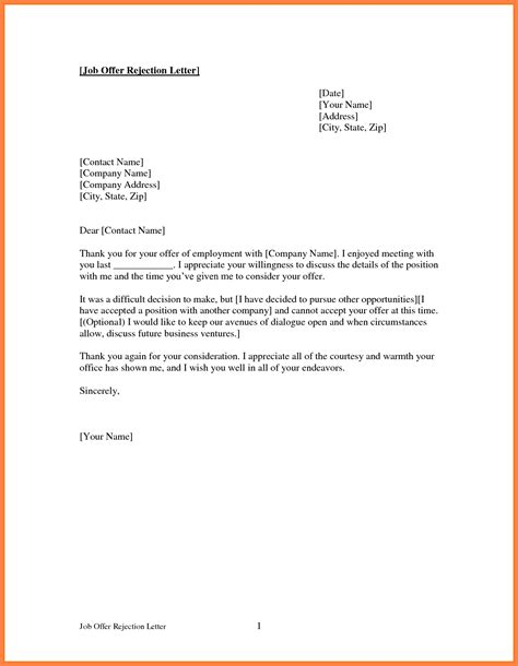 Decline Relocation Letter rejection letters nicetobeatyou tk