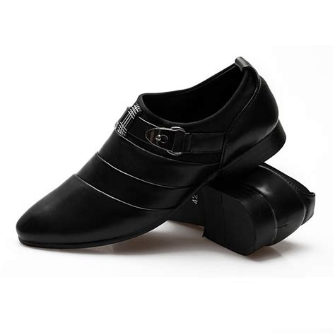 Formal Shoes 7589 leather dress formal shoes business wing tip buckle