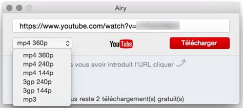 grab youtube videos with airy youtube grabber for mac airy youtube downloader un outil pour t 233 l 233 charger des