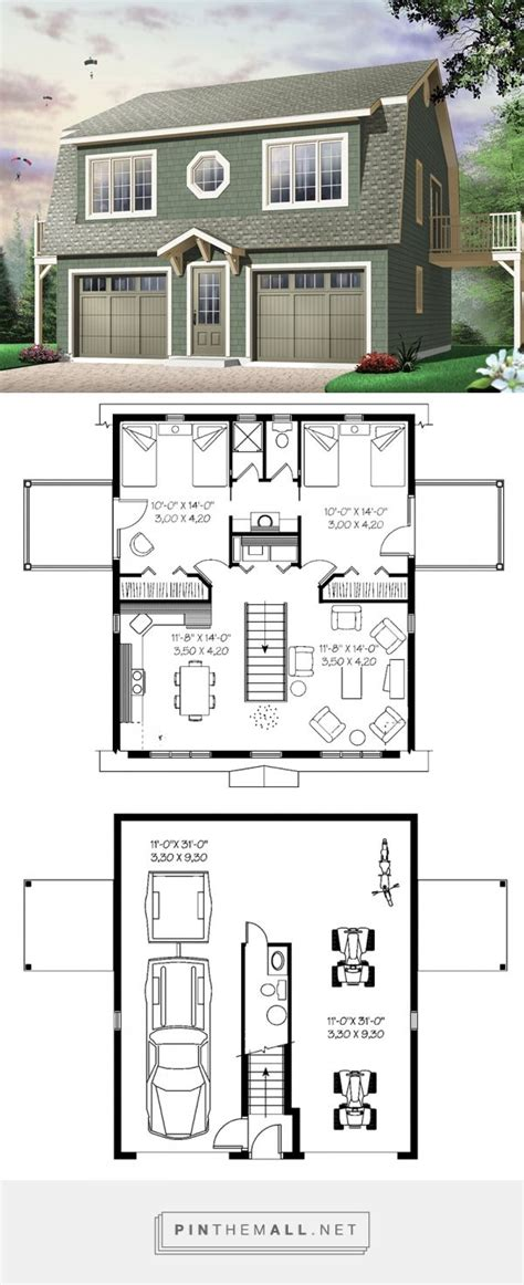 garage floor plans with apartment 1000 images about small home dreams on small