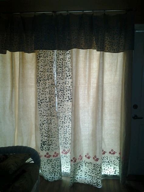 stenciled drop cloth curtains stenciled drop cloth rug home remedies recipes and voodoo