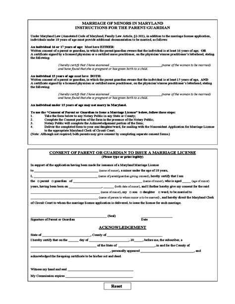 Non Resident Marriage License or Certificate Application