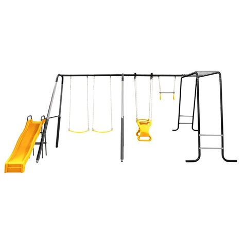 swing set safety playsafe greenhill swing set with monkey bar toys r us