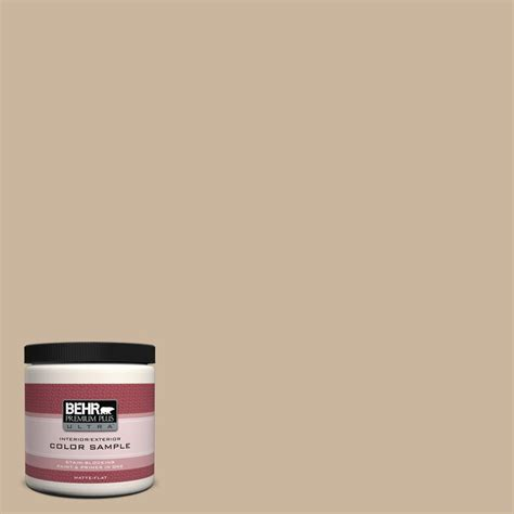behr premium plus ultra 8 oz ul140 10 bisque interior exterior paint sle ul140 10