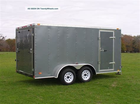 7x12 enclosed cargo trailer tandem dual axle