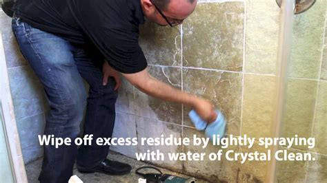 hard water stains on bathroom tiles stone pro how to remove hard water spots in showers youtube