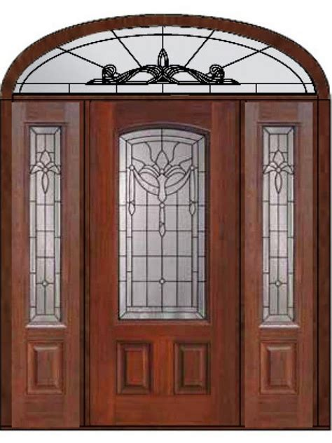 Front Entry Door With Sidelites Exterior Door With Two Sidelites And Elliptical Transom Prehung Sidelights Transom Door 80