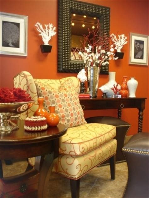 orange living room walls bold burnt orange wall with orange accents etc teamworks realtor group call us today 540 271