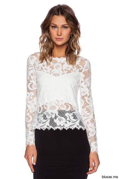 imagenes de blusas blancas con encajes blusas de encaje con manga larga 2015 25 https