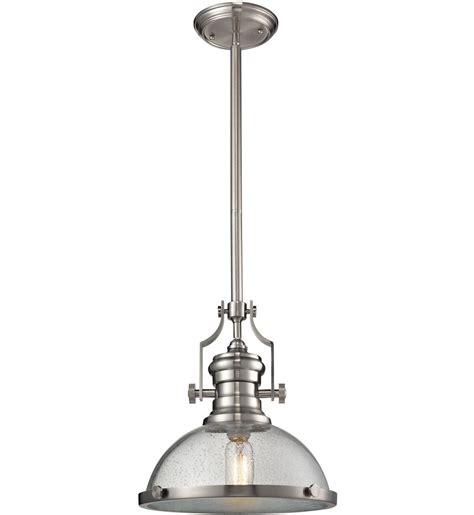elk lighting 67723 1 chadwick satin nickel 14 inch 1