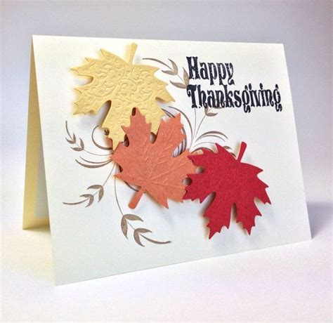 Handmade Thanksgiving Card Ideas - handmade happy thanksgiving greeting card