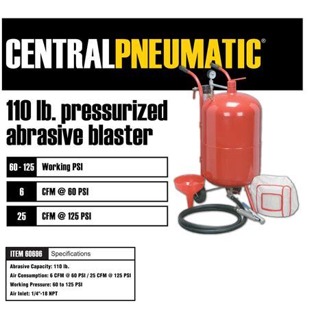 bead blaster harbor freight 110 lb pressurized abrasive blaster