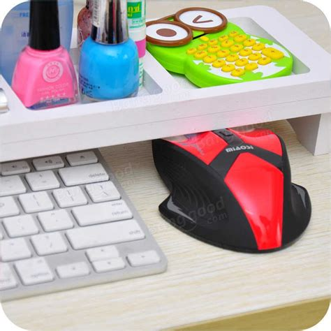 desktop pc keyboard storage rack shelf multifunctional