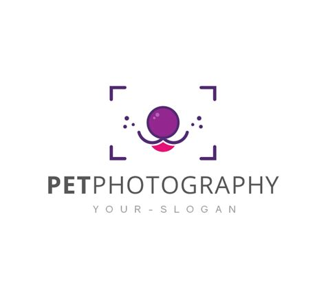 photography logo template pet photography logo business card template the design