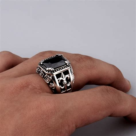 Handmade Mens Ring - handmade sterling onyx ring for handmade thailand
